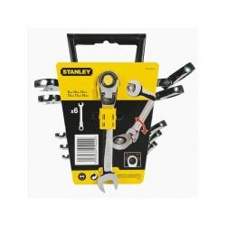 Stanley 4-91-444 Maxi Drive Combination ratchet spanners set - 6 pcs