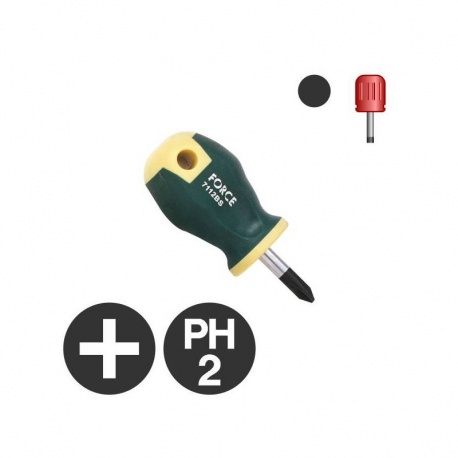 Force 7112BS - Philips Stubby Screwdriver PH2 x 25mm