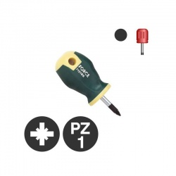 7121BS - Pozidriv Stubby Screwdriver PZ1 x 25mm
