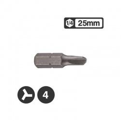 """122S2504 - Μύτη Τρίφτερη 1/4"""" 25mm - No 4"""