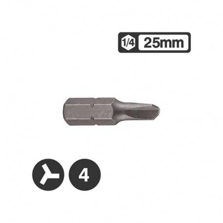 Force 122S2504 - 1/4″ Tri-Wing Bit 25mm - No 4