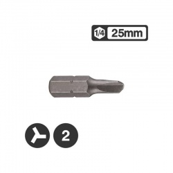 "122S2502 - 1/4"" Tri-Wing Bit 25mm - No 2"