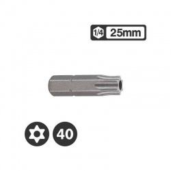 """1272540 - Μύτη Tamper Torx 1/4"""" 25mm - TT40"""