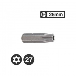 "1272527 - 1/4"" Star Tamperproof Bit 25mm - TT27"