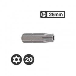 """1272520 - Μύτη Tamper Torx 1/4"""" 25mm - TT20"""