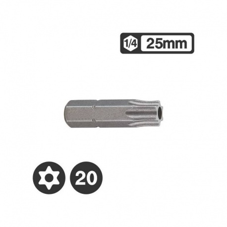 Force 1272520 - Μύτη Tamper Torx 1/4″ 25mm - TT20
