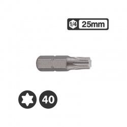 """1262540 - 1/4"""" Star Bit 25mm - T40"""