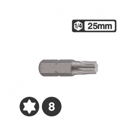 Force 1262508 - Μύτη Torx 1/4″ 25mm - T8