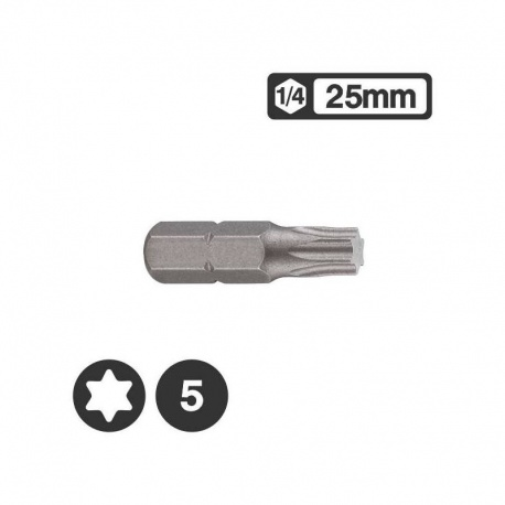 Force 1262505 - Μύτη Torx 1/4″ 25mm - T5
