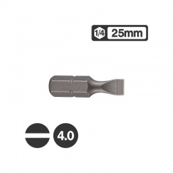 "1232504 - 1/4"" Slotted Bit 25mm - 4.0mm"