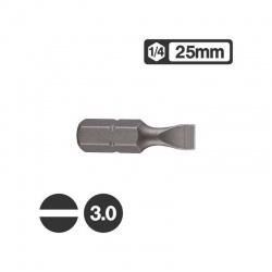 """1232503 - Μύτη Ίσια 1/4"""" 25mm - 3.0mm"""