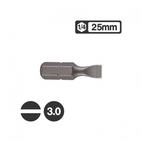 Force 1232503 - Μύτη Ίσια 1/4″ 25mm - 3.0mm