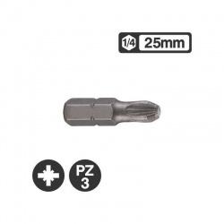 Force 122253 - 1/4″ Pozidriv Bit 25mm - PZ3