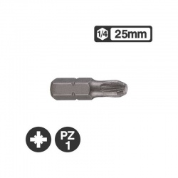 Force 122251 - 1/4″ Pozidriv Bit 25mm - PZ1