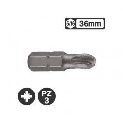 Force 152363 - 5/16″ Pozidriv Bit 36mm - PZ3