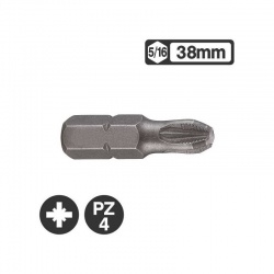 Force 152384 - 5/16″ Pozidriv Bit 38mm - PZ4