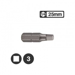 "124R253 - 1/4"" Square Bit 25mm - No 3"