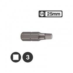 """124R253 - Μύτη Τετράγωνη 1/4"""" 25mm - Νο 3"""