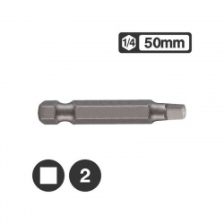 "124R502 - 1/4"" Long Square Bit 50mm - No 2"