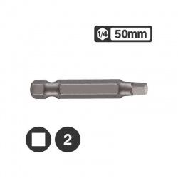 "124R502 - Μύτη Μακρυά Τετράγωνη 1/4"" 50mm - Νο 2"