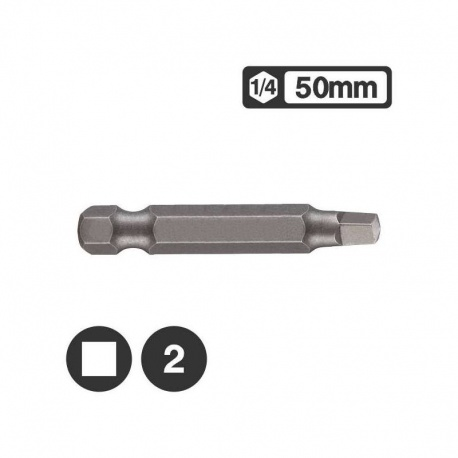Force 124R502 - Μύτη Μακρυά Τετράγωνη 1/4″ 50mm - Νο 2
