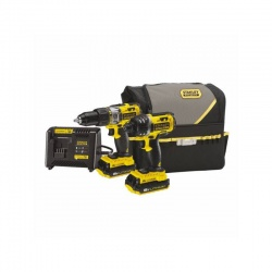Stanley FMCK461C2 Li-Ion 18V 2Ah cordless drill & impact screwdriver kit