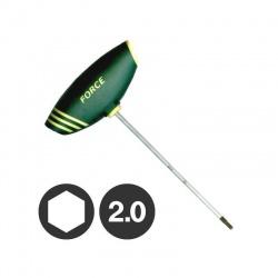 Force 72402 - Κλειδί Άλεν με Λαβή ″Τ″ - 2.0mm