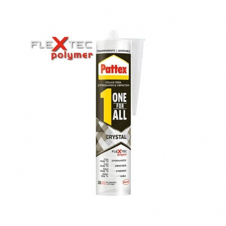 Pattex One For All Elastic Sealant 290gr Crystal Clear