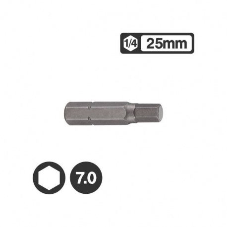 "Force 1242507 - Μύτη Άλεν 1/4"" 25mm - 7.0mm"