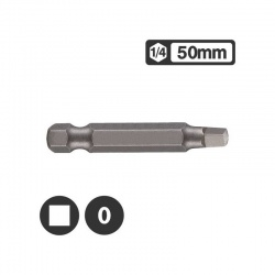 "124R500 - 1/4"" Long Square Bit 50mm - No 0"