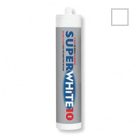Elastotet Super White 10 Αντιμυκητιακή σιλικόνη λευκή