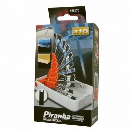 Black & Decker Piranha X28170 - Σετ μαχαιράκια σέγας 16 τεμ