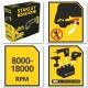 Stanley FMC710B - 18V Cordless oscillating tool - Bare Unit
