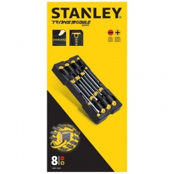 Stanley STMT1-74181 Transmodule System Cushion Grip Screwdriver Set 8 pcs - Flat & Philips