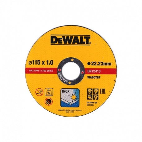 DeWalt DT3506 Inox Cutting Disc WA60TBF 1.0 x 115mm