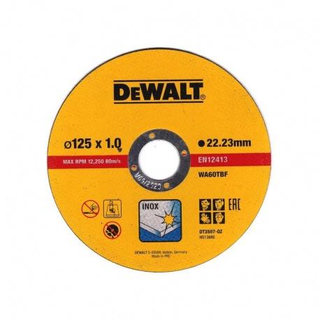 DeWalt DT3507 Inox Cutting Disc WA60TBF 1.0 x 125mm