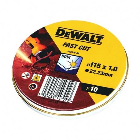 DeWalt DT3506 Δίσκοι Κοπής Inox WA60TBF 1.0 x 115mm - 10 τεμ.
