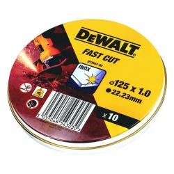 DeWalt DT3507 Δίσκοι Κοπής Inox WA60TBF 1.0 x 125mm - 10 τεμ.