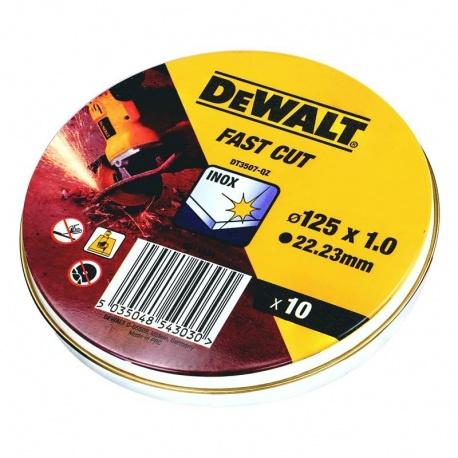 DeWalt DT3507 Inox Cutting Discs WA60TBF 1.0 x 125mm - 10pcs