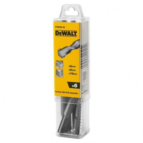 DeWalt DT60302 - Σετ 6 τεμ. Τρυπάνια SDS Plus 6-10mm