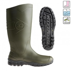 Dunlop Dane Green Waterproof Wellington Boots