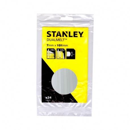 Stanley 1-GS10DT ψιλή διαφανής θερμόκολλα σε ράβδους 7mm - 24 τεμ.