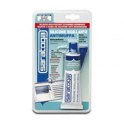 White Anti-Mildew Silicone Sealant 60ml
