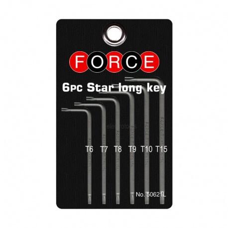 Force 50621L Σετ Κλειδιά Torx 6 τεμ.