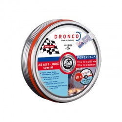 Dronco Power Pack: 10x AS 60 T INOX-BF discs 1.0 x 115mm