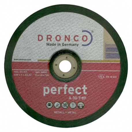 Dronco δίσκος λειάνσεως μετάλλου A 30 T-BF 6.0 x 230mm