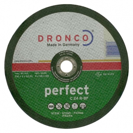 Dronco δίσκος πέτρας-μαρμάρου C 24 R-BF 3.0 x 230mm