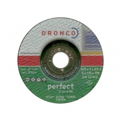 Dronco δίσκος πέτρας-μαρμάρου C 24 R-BF 3.0 x 125mm