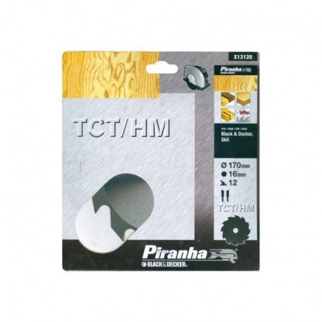 Black & Decker Piranha X13120 - Δίσκος Δισκοπριόνου 170x16mm - 12Δ