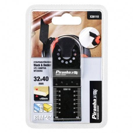 Black & Decker Piranha X26110 Oscillating Blade 32mm for Wood and Metal